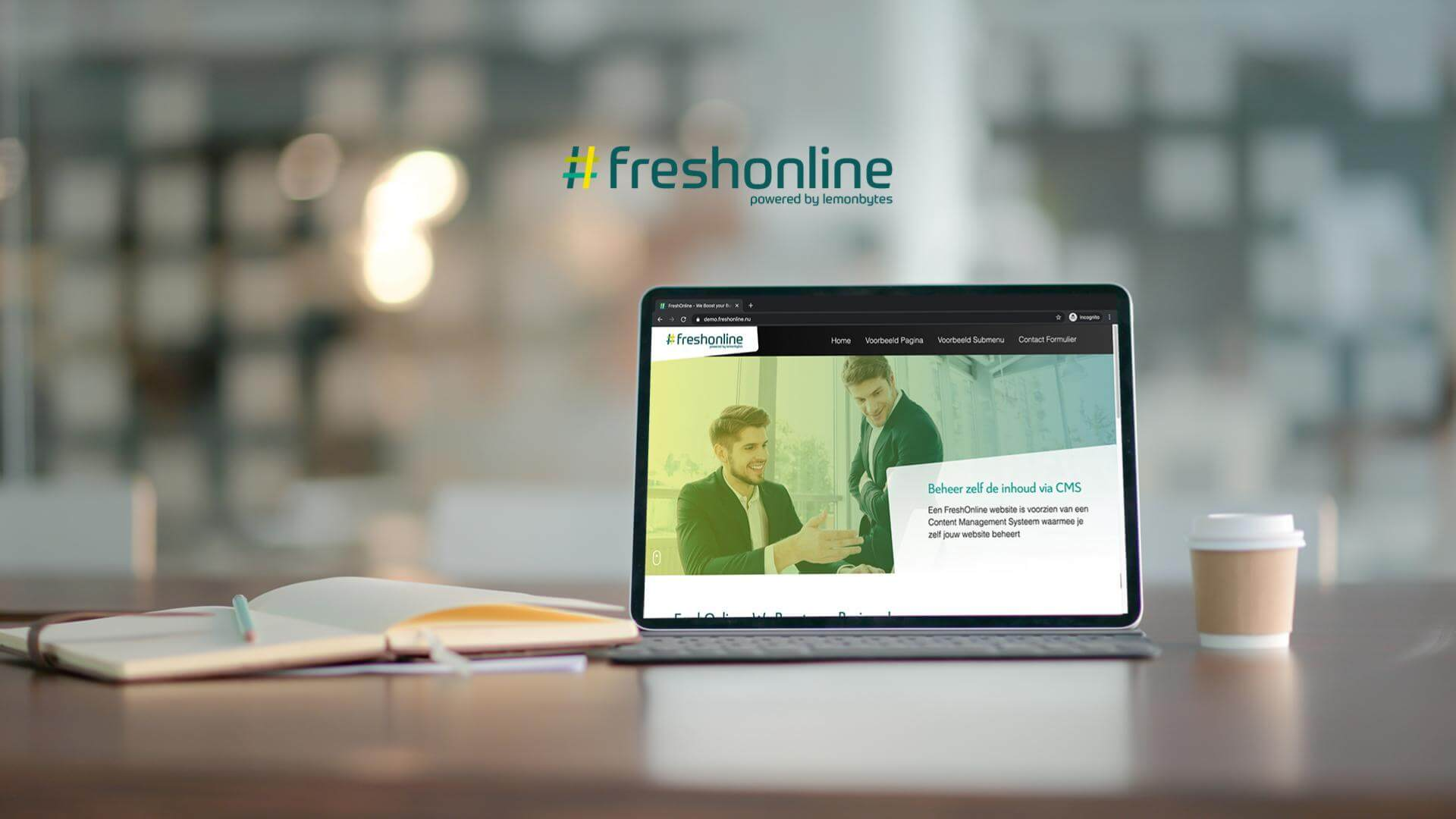 FreshOnline website met CMS